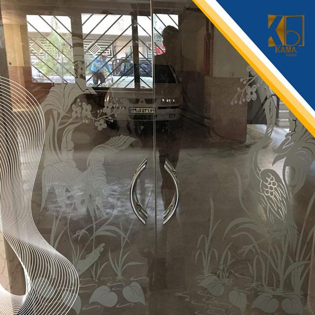 شیشه سکوریت سندبلاست