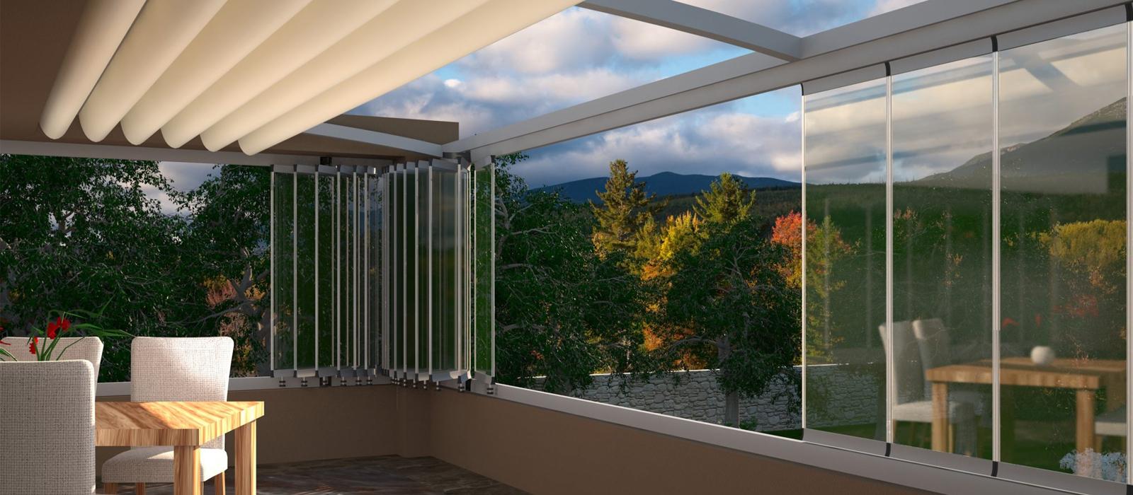 شیشه-بالکنی