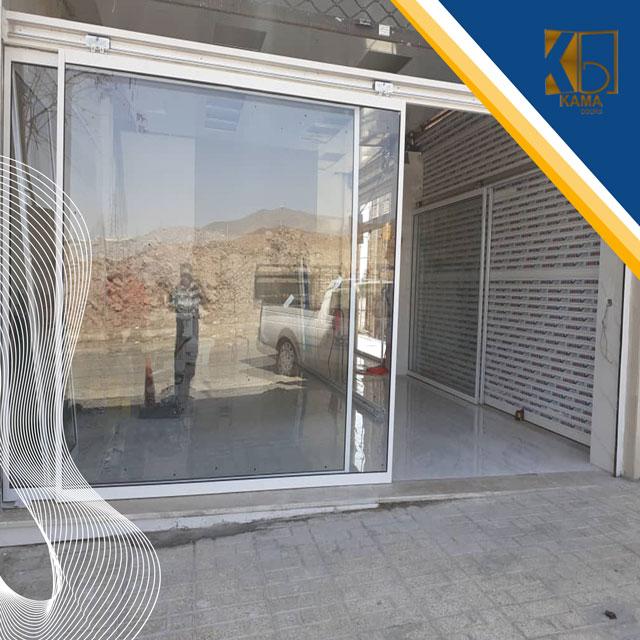 درب-اتوماتیک-شیشه ای تک-لت