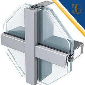 نمای شیشه ای کرتین-وال